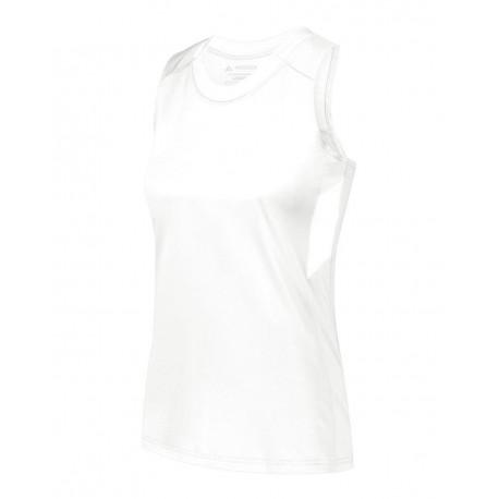 2437 Augusta Sportswear 2437 Girls' Crossover Tank Top WHITE/ WHITE