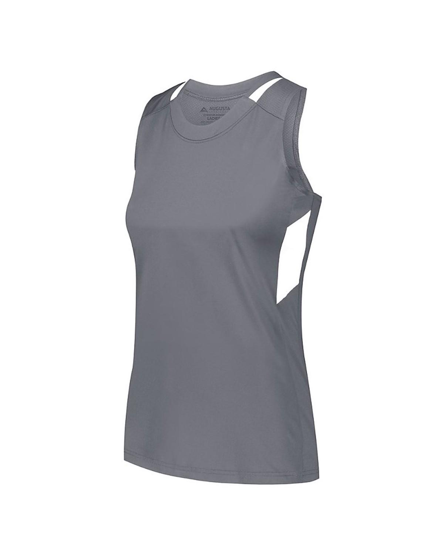 2437 Augusta Sportswear GRAPHITE/ WHITE