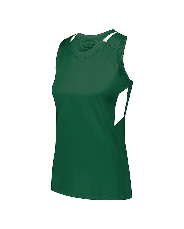 2437 Augusta Sportswear Dark Green/ White