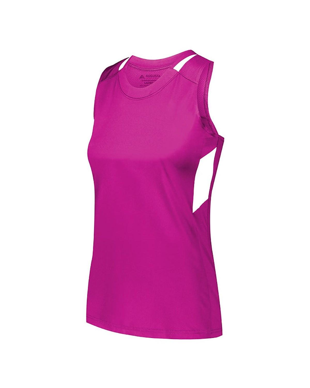2437 Augusta Sportswear Power Pink/ White