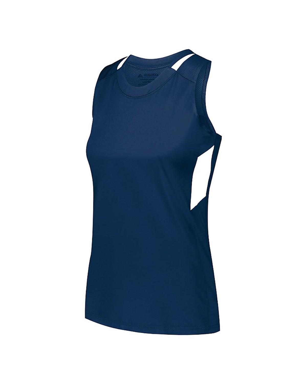 2437 Augusta Sportswear NAVY/ WHITE