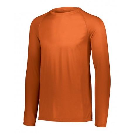 2796 Augusta Sportswear 2796 Youth Attain Wicking Long Sleeve Shirt ORANGE