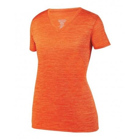 2902 Augusta Sportswear 2902 Women's Shadow Tonal Heather Training T-Shirt ORANGE
