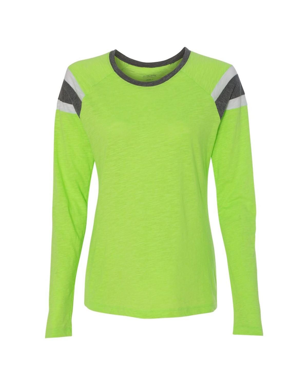 3012 Augusta Sportswear Lime/ Slate/ White