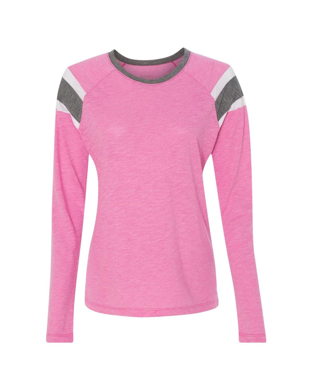 3012 Augusta Sportswear Power Pink/ Slate/ White