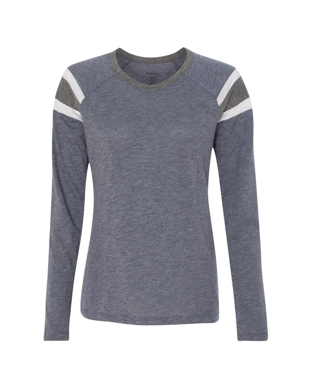3012 Augusta Sportswear Navy/ Slate/ White
