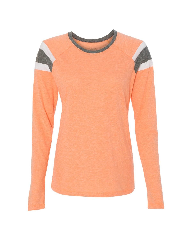 3012 Augusta Sportswear Light Orange/ Slate/ White