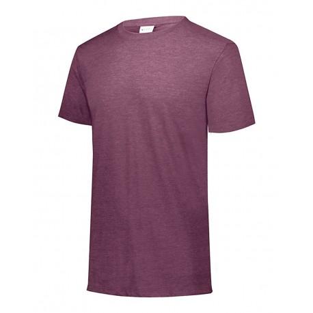 3066 Augusta Sportswear 3066 Youth Triblend Short Sleeve T-Shirt MAROON HEATHER