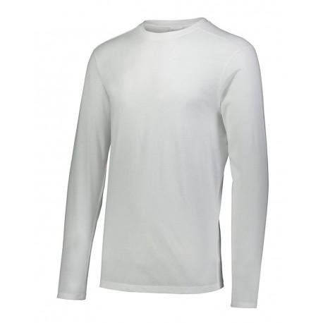 3076 Augusta Sportswear 3076 Youth Triblend Long Sleeve Crewneck T-Shirt WHITE