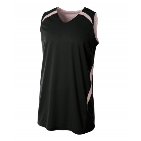 A4NB2372 A4 A4NB2372 Youth Double Double Reversible Jersey BLACK/WHITE