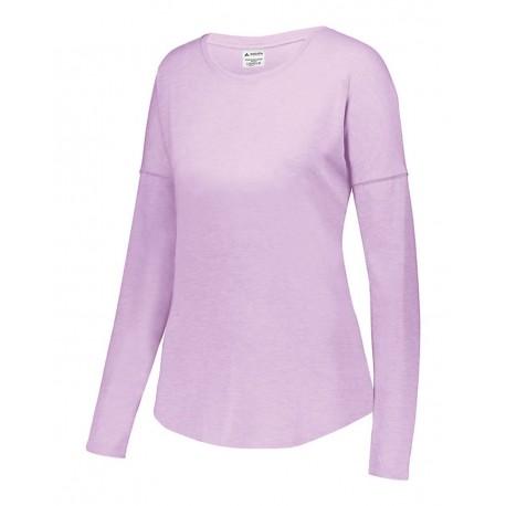3077 Augusta Sportswear 3077 Women's Lux Triblend Long Sleeve T-Shirt Light Lavender Heather