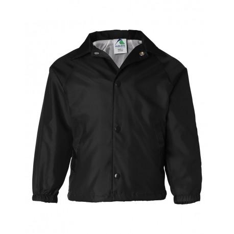 3101 Augusta Sportswear 3101 Youth Coach's Jacket BLACK