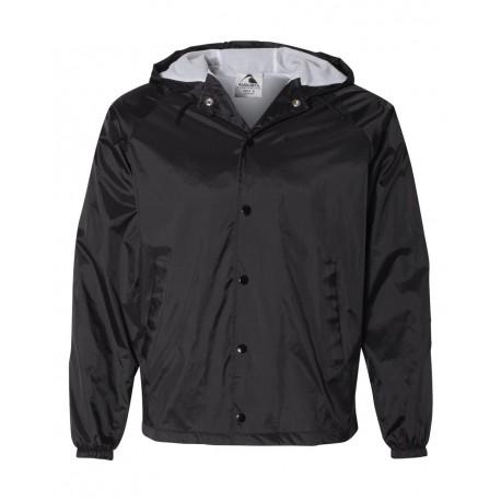 3102 Augusta Sportswear 3102 Hooded Coach's Jacket BLACK