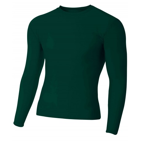 A4NB3133 A4 A4NB3133 Youth Long Sleeve Compression Crew FOREST