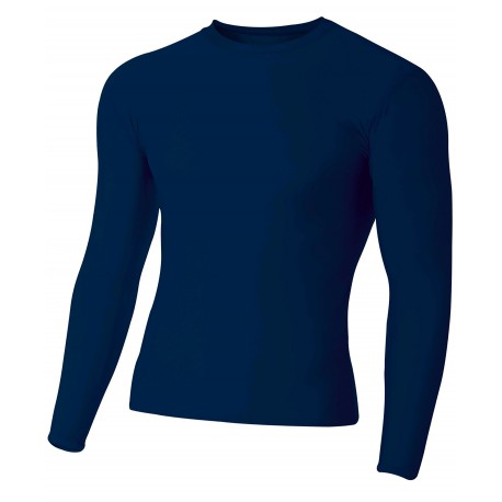 A4NB3133 A4 A4NB3133 Youth Long Sleeve Compression Crew NAVY