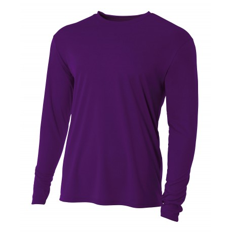 A4NB3165 A4 A4NB3165 Youth Cooling Performance Long Sleeve Tee PURPLE