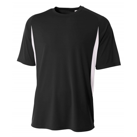 A4NB3181 A4 A4NB3181 Youth Cooling Performance Color Block Tee BLACK/WHITE