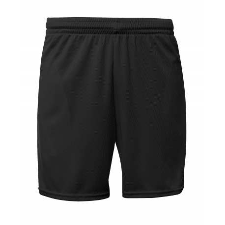 A4NB5384 A4 A4NB5384 6-Inch Youth Mesh Short with Pockets BLACK