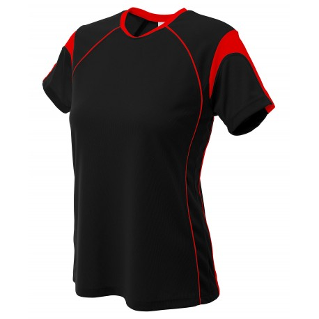 A4NG3260 A4 A4NG3260 Girls Color Block Pullover Jersey BLACK/RED