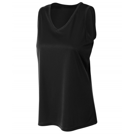 A4NW2360 A4 A4NW2360 Ladies Athletic Tank BLACK
