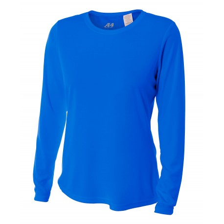 A4NW3002 A4 A4NW3002 Ladies Cooling Performance Long Sleeve Tee ROYAL