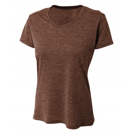 A4NW3010 A4 A4NW3010 Womens Inspire Tonal Space Dye Performance Tee CHARCOAL
