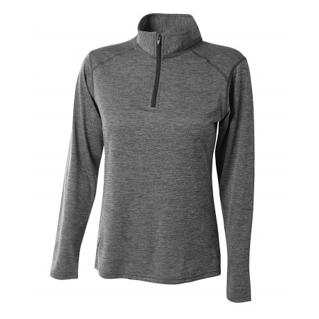 A4NW4010 A4 A4NW4010 Womens Inspire Long Sleeve Tonal Space Dye 1/4 Zip CHARCOAL