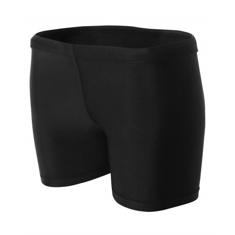 A4NW5313 A4 A4NW5313 Ladies Compression Short BLACK