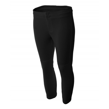 A4NW6166 A4 A4NW6166 Ladies Softball Pant BLACK